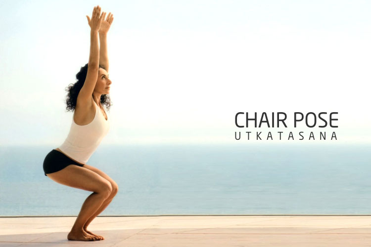 chair pose Utkatasana for buttocks