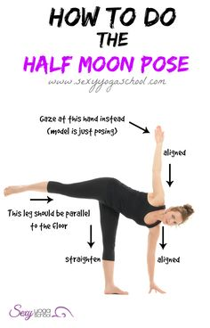 half moon pose to make your bum bigger