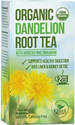 organic dandelion tea for breast growth