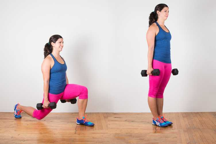 Lunges-with-weighs