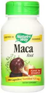 Natural Maca Root Extract in Vegan Capsules Form